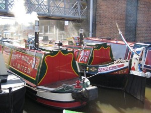 Canal boats at Ellesmere Port - Sea Shanty Festival