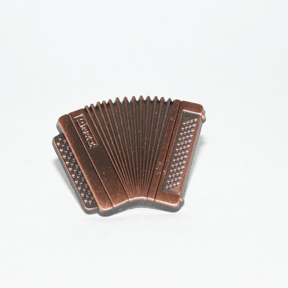 Copper accordion badge