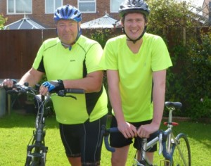 Paul and James Housden cycling for COFEPOW