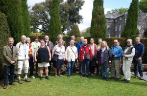 Swedish visitors at Plas Brondanw