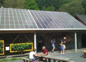 Solar panel roof at Centre for Alternative Technology