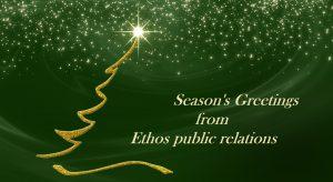 Season's Greetings from Ethos public relations